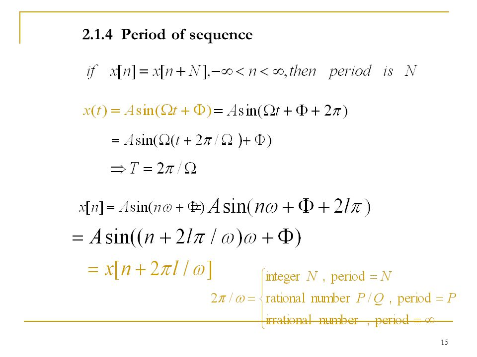 2.1.4 Period of sequence