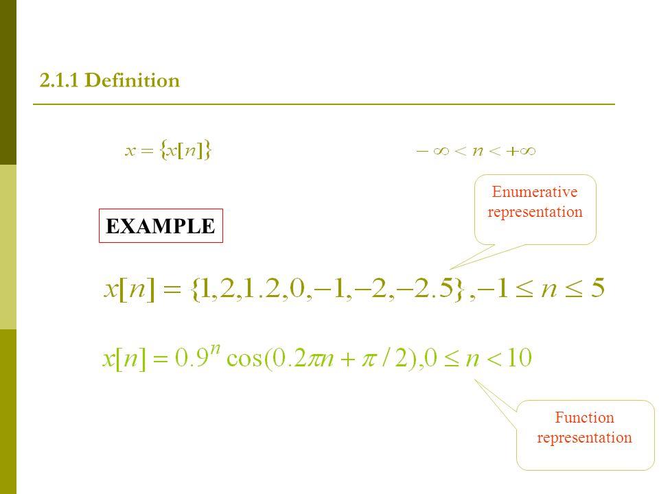 2.1.1 Definition EXAMPLE Enumerative representation
