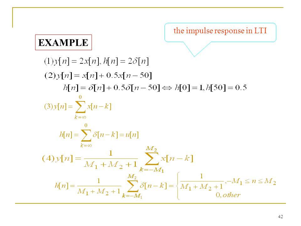 the impulse response in LTI