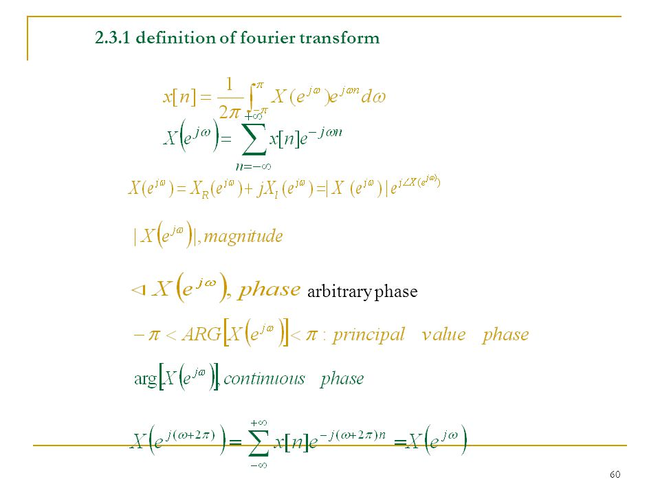 2.3.1 definition of fourier transform
