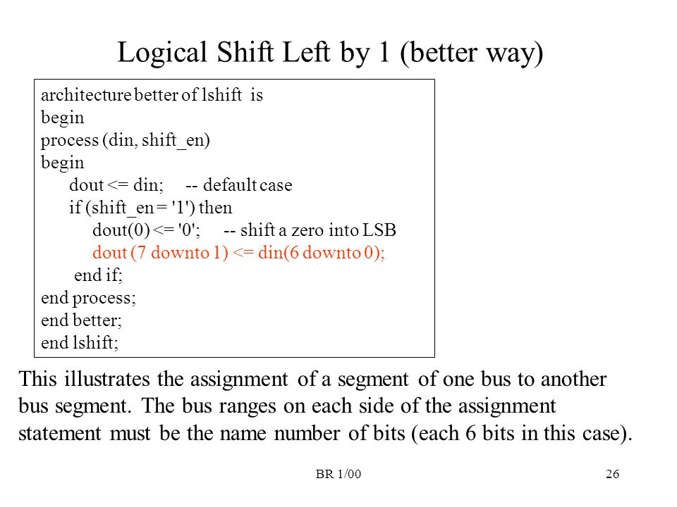 Logical Shift Left by 1 (better way)