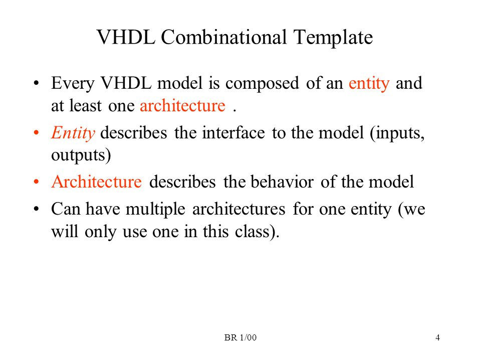VHDL Combinational Template