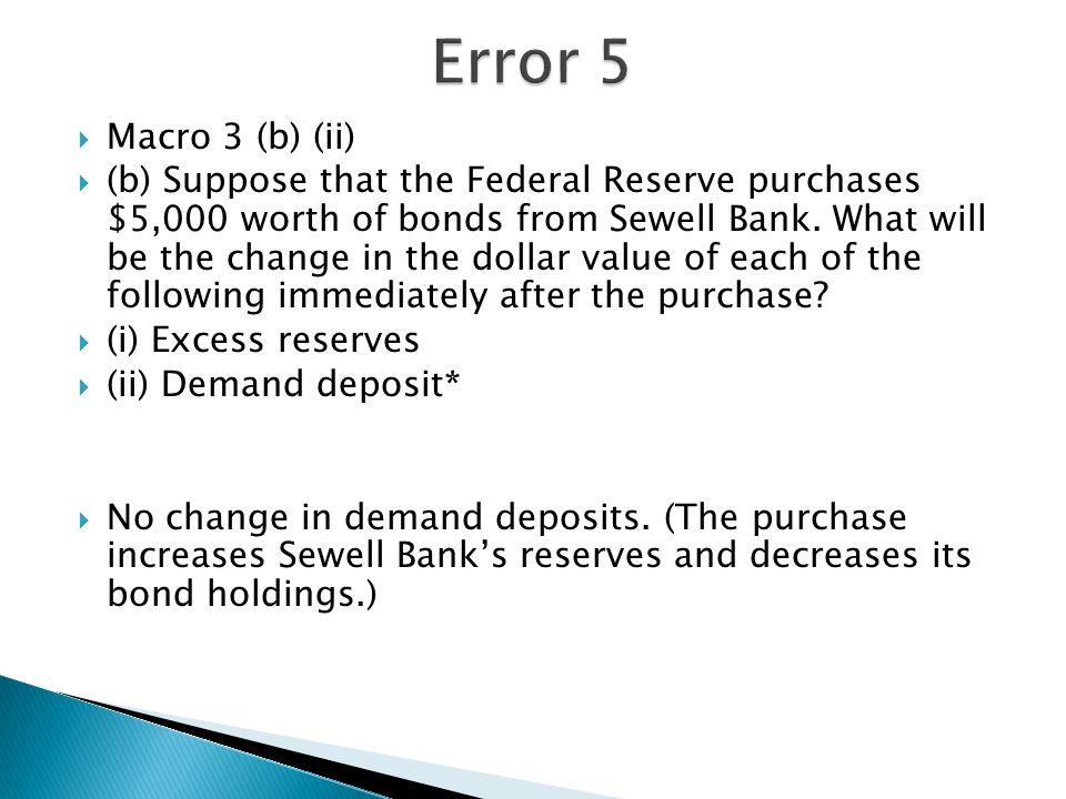 Error 5 Macro 3 (b) (ii)