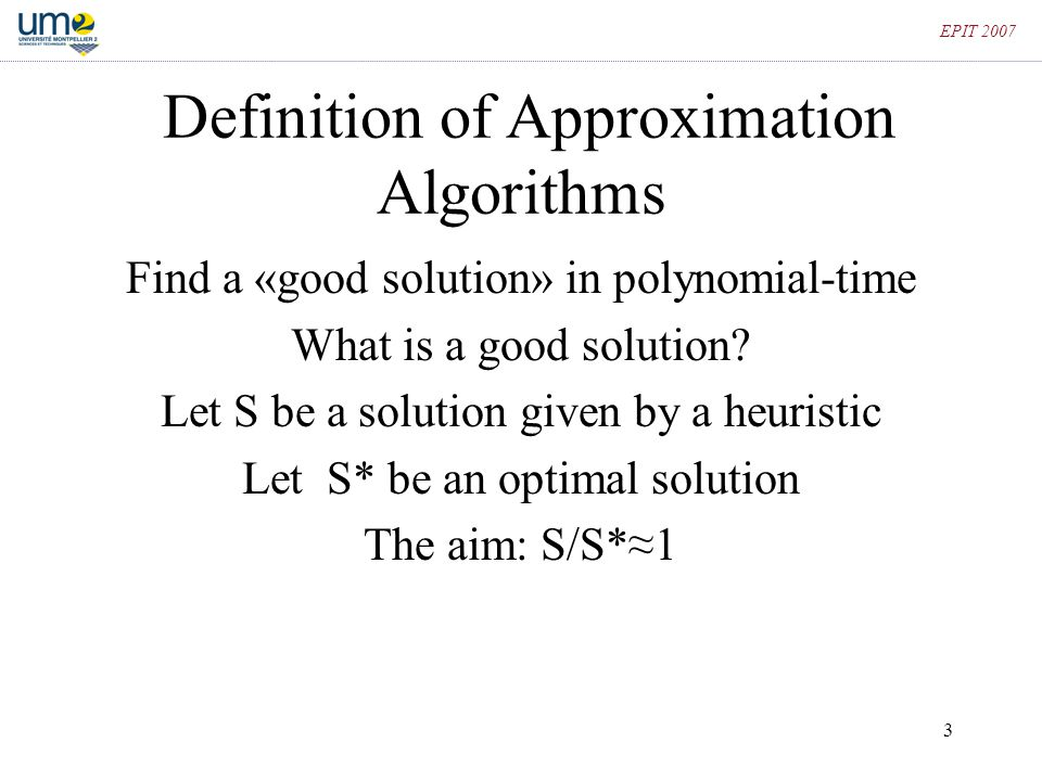 Definition of Approximation Algorithms