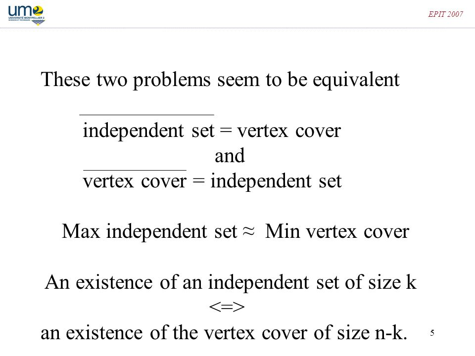 These two problems seem to be equivalent