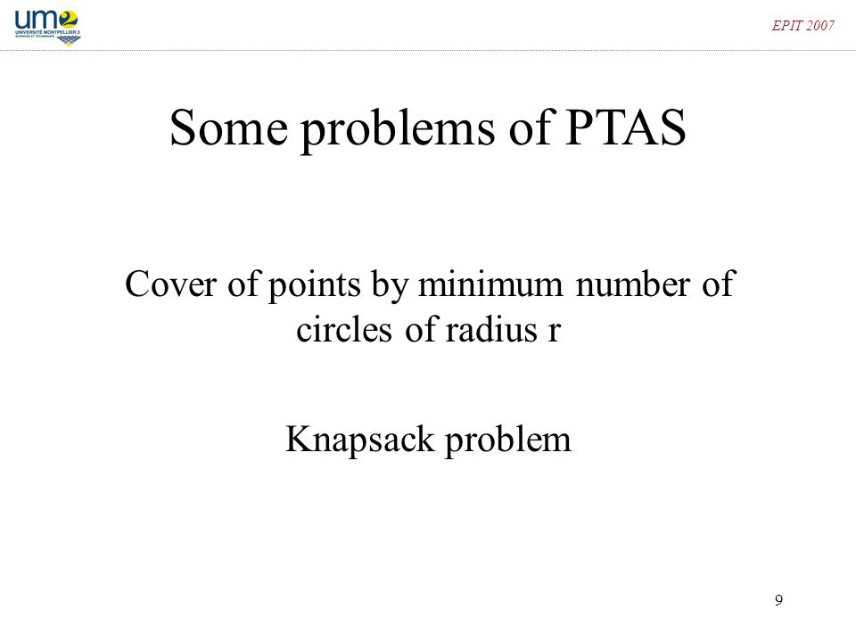 Cover of points by minimum number of circles of radius r