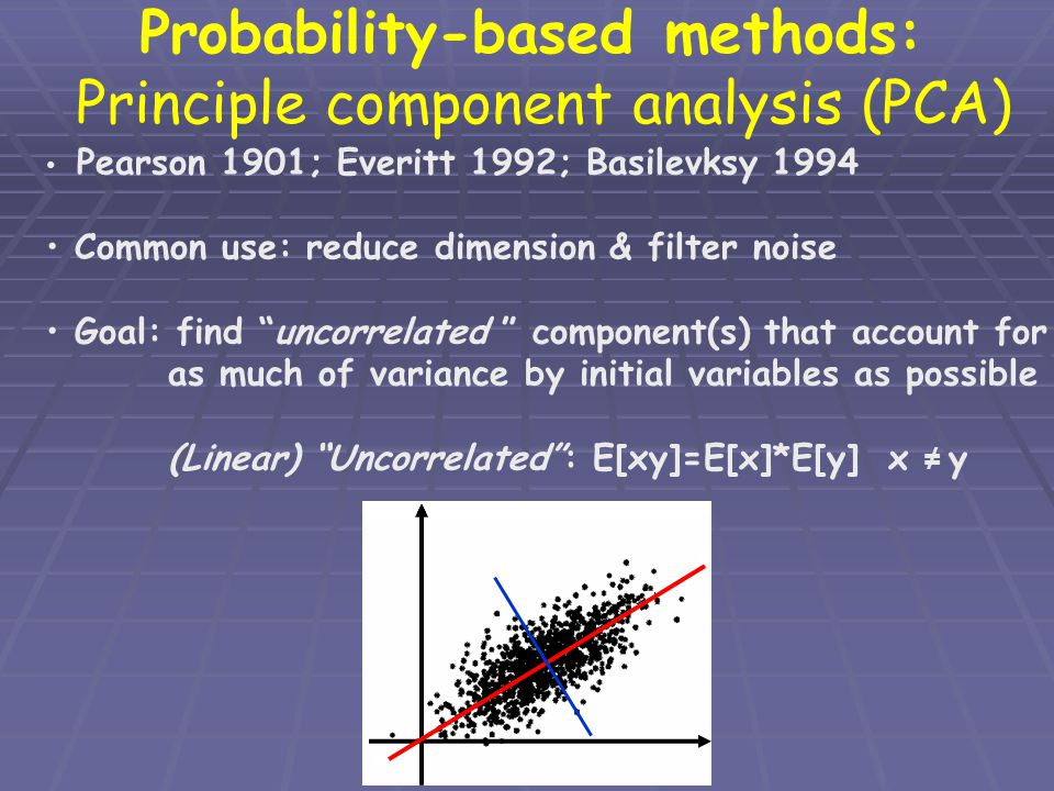 Probability-based methods: