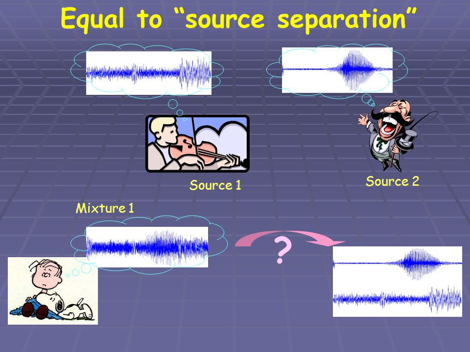Equal to source separation