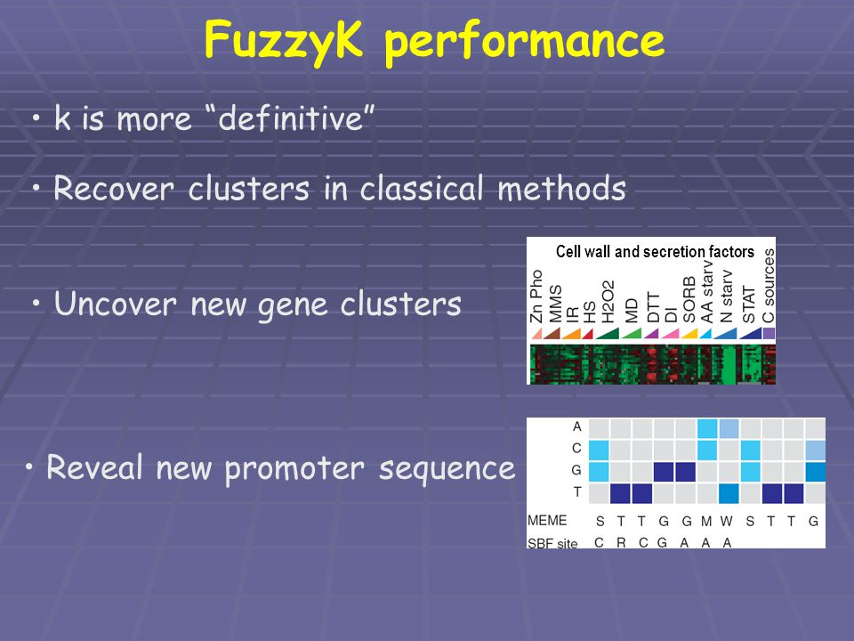 FuzzyK performance k is more definitive