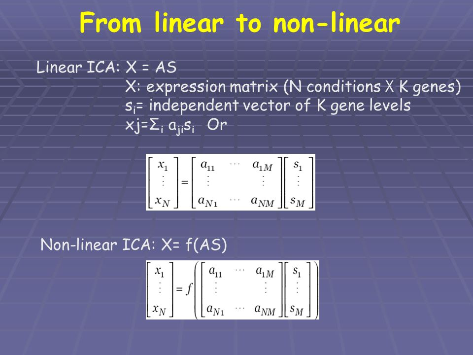 From linear to non-linear