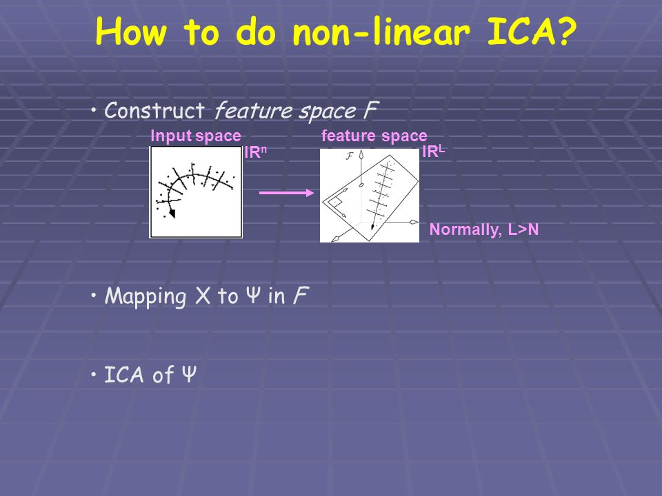 How to do non-linear ICA