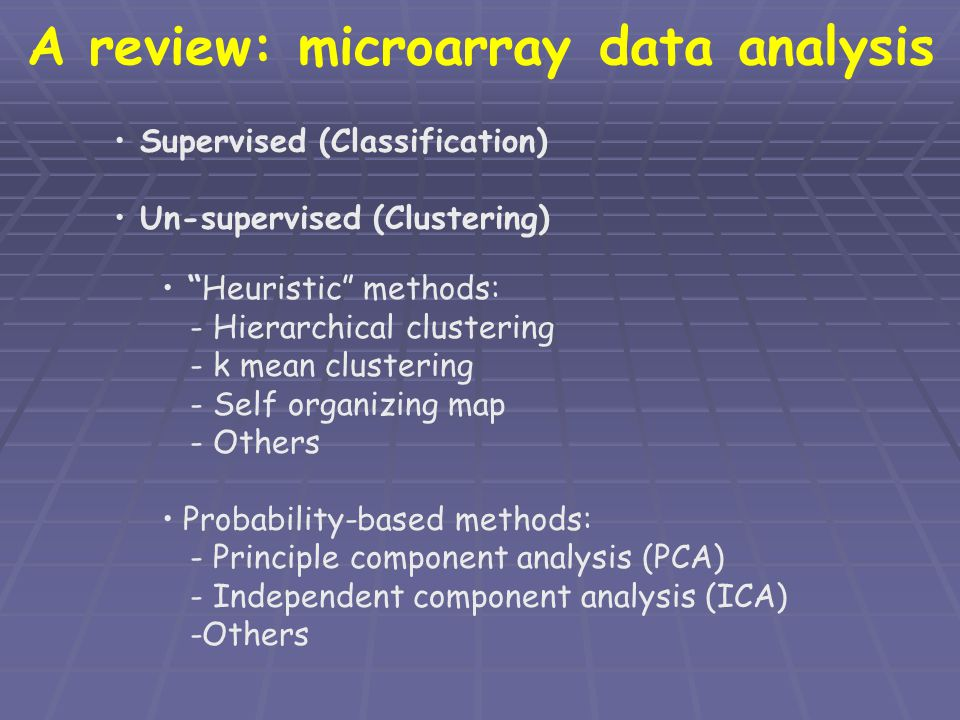 A review: microarray data analysis