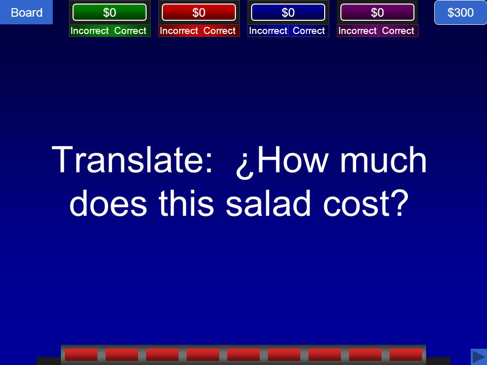 Translate: ¿How much does this salad cost