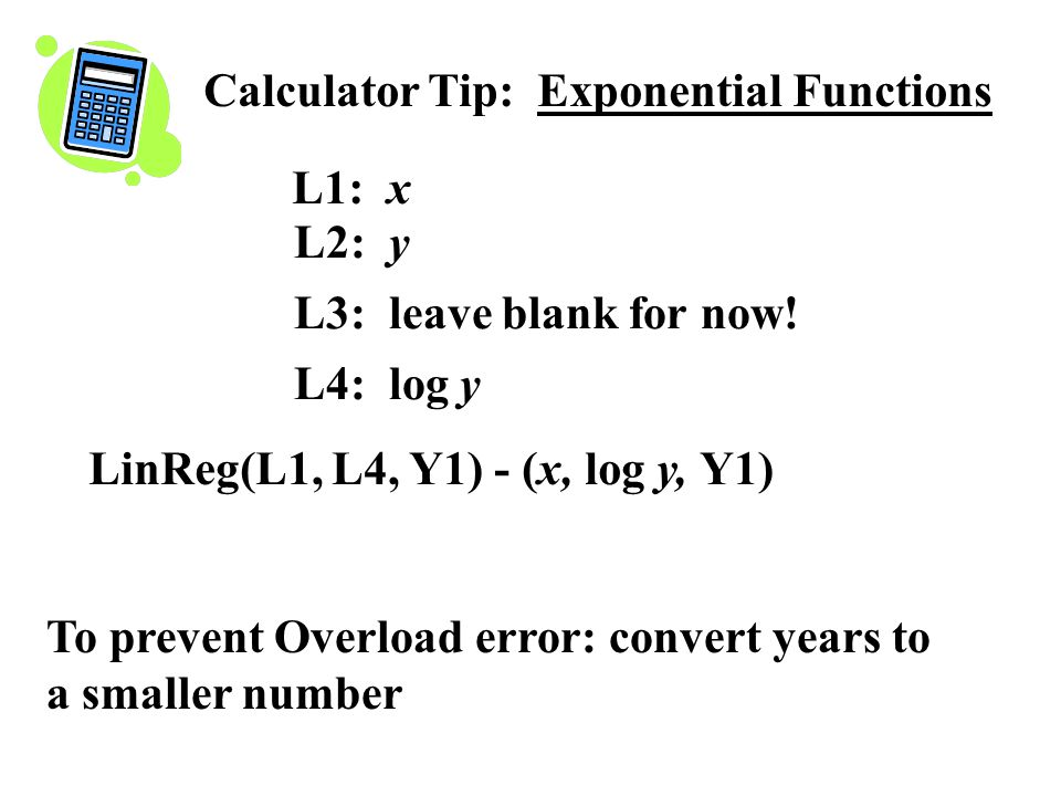 Calculator Tip: Exponential Functions