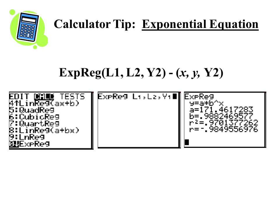 Calculator Tip: Exponential Equation