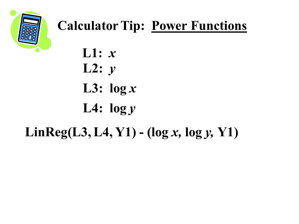 Calculator Tip: Power Functions