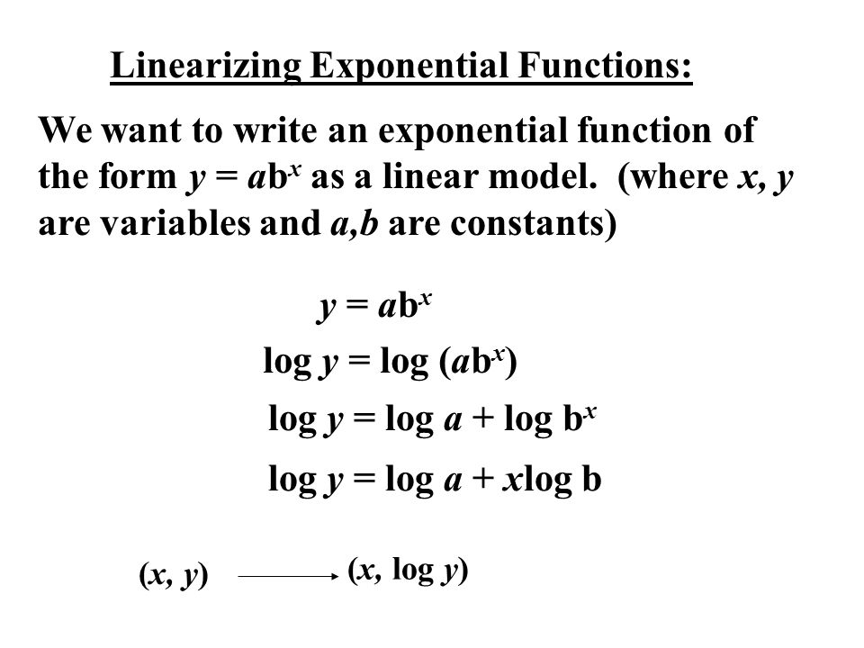 Linearizing Exponential Functions: