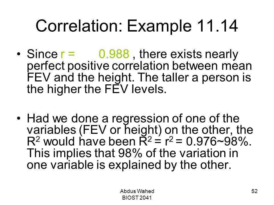 Correlation: Example 11.14