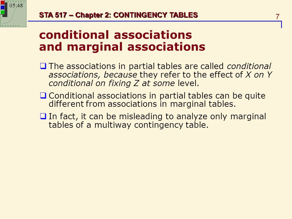 conditional associations and marginal associations