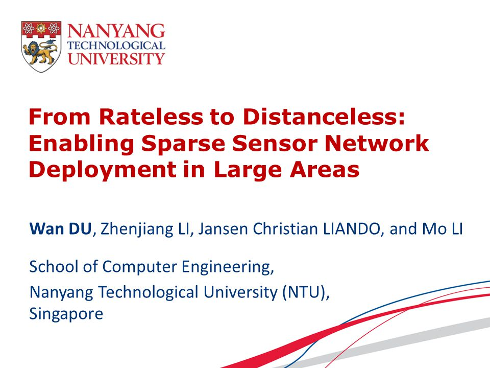 From Rateless to Distanceless: Enabling Sparse Sensor Network Deployment in Large Areas