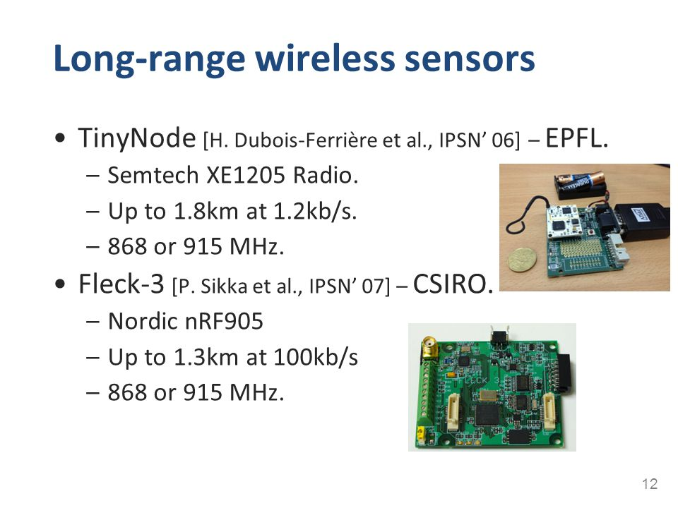 Long-range wireless sensors