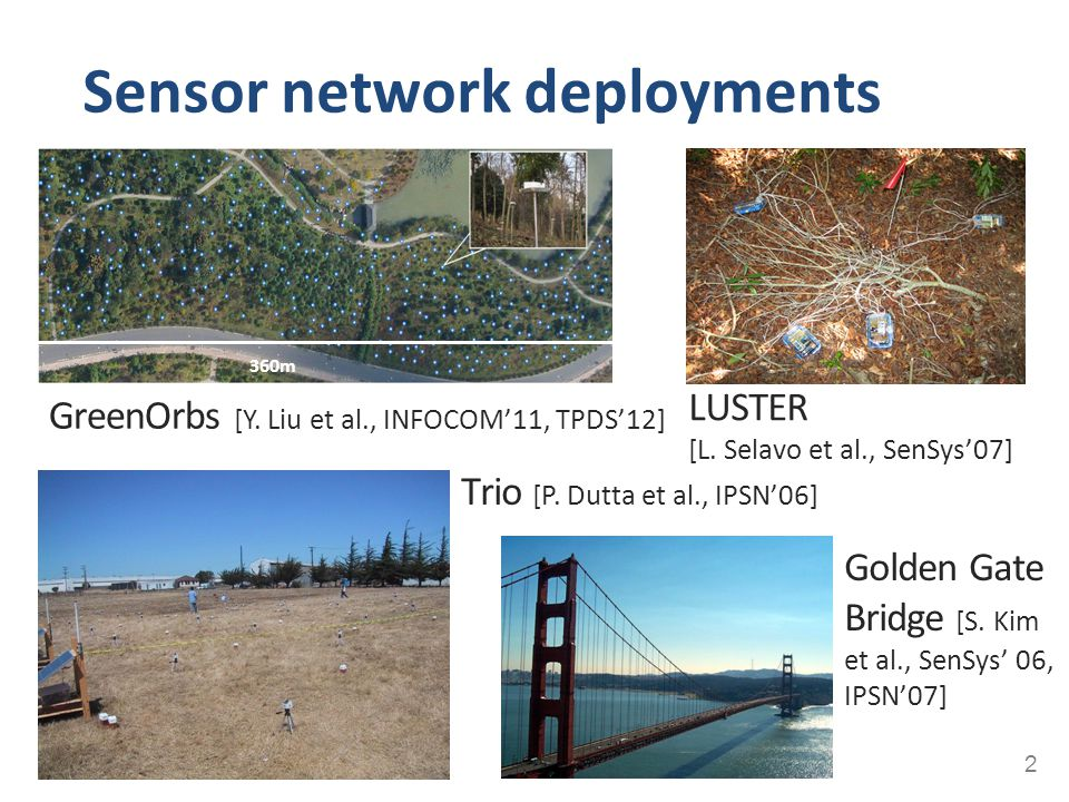 Sensor network deployments