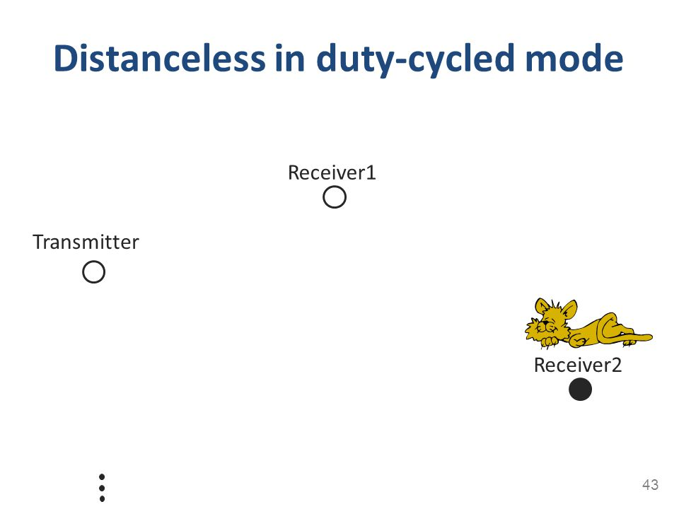 Distanceless in duty-cycled mode