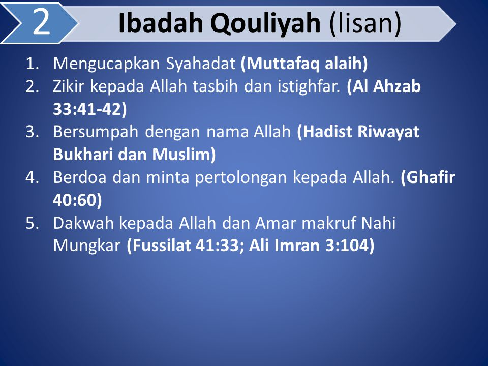 Ibadah Qouliyah (lisan)