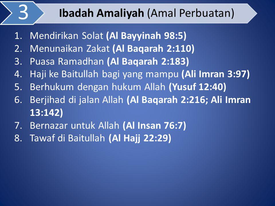 Ibadah Amaliyah (Amal Perbuatan)
