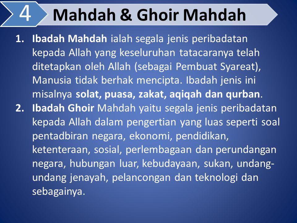 4 Mahdah & Ghoir Mahdah.