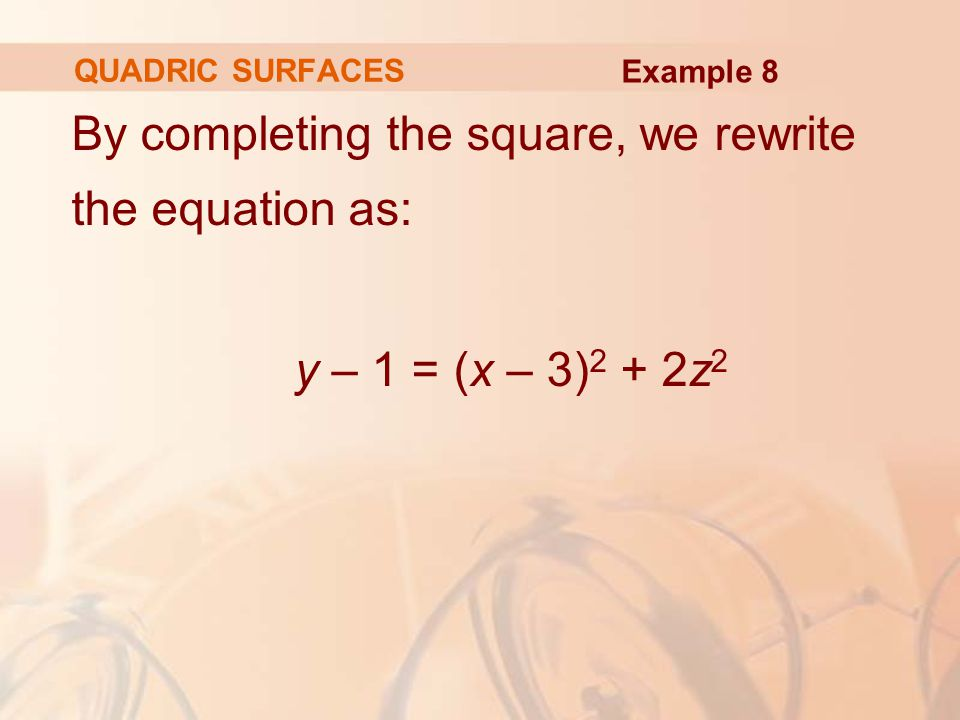 By completing the square, we rewrite the equation as:
