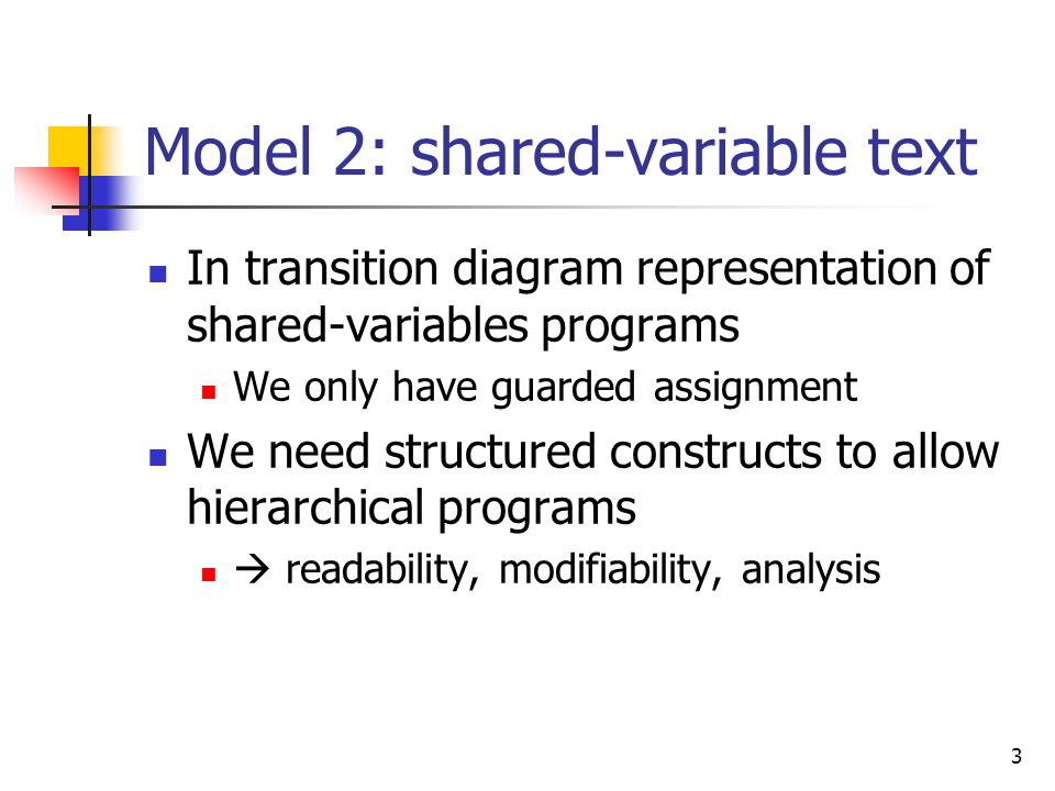 Model 2: shared-variable text