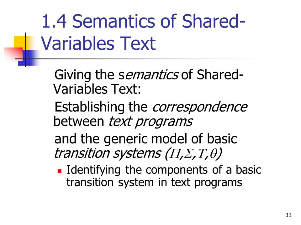 1.4 Semantics of Shared-Variables Text
