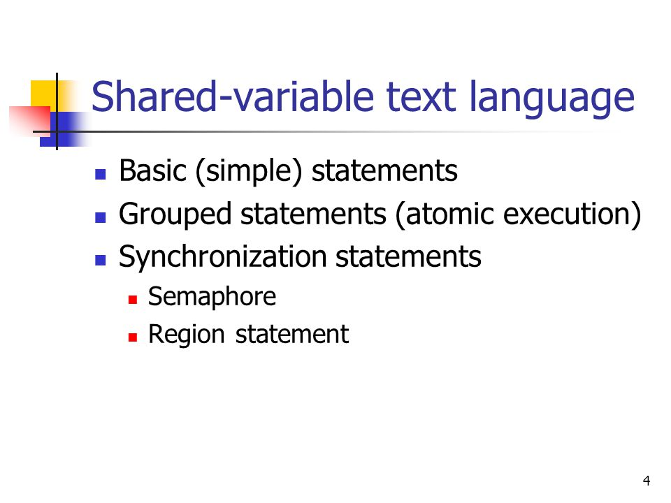 Shared-variable text language