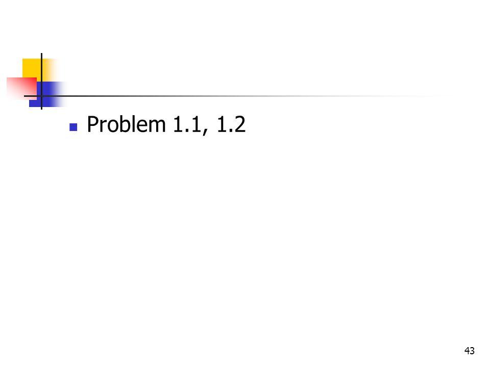 Problem 1.1, 1.2