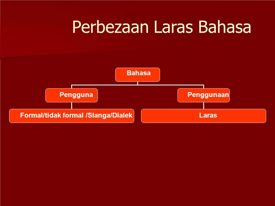 Perbezaan Laras Bahasa