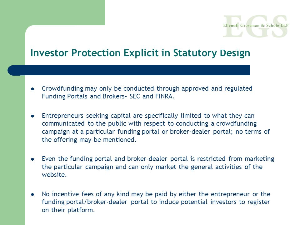 Investor Protection Explicit in Statutory Design