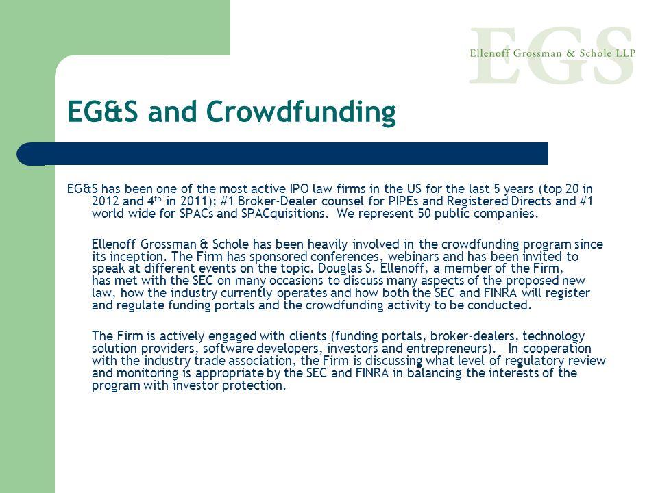 EG&S and Crowdfunding