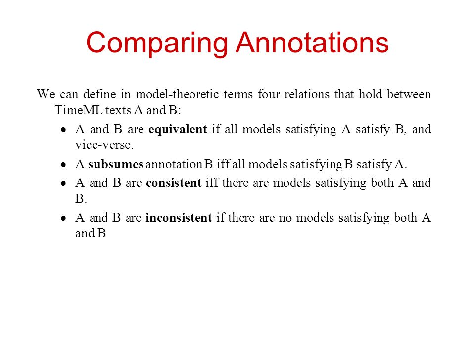 Comparing Annotations