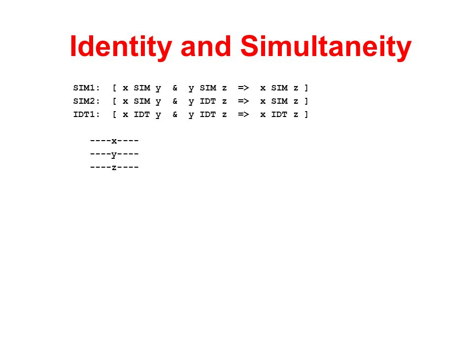 Identity and Simultaneity