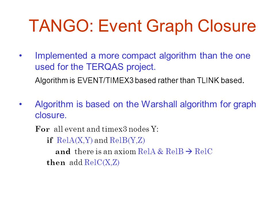 TANGO: Event Graph Closure