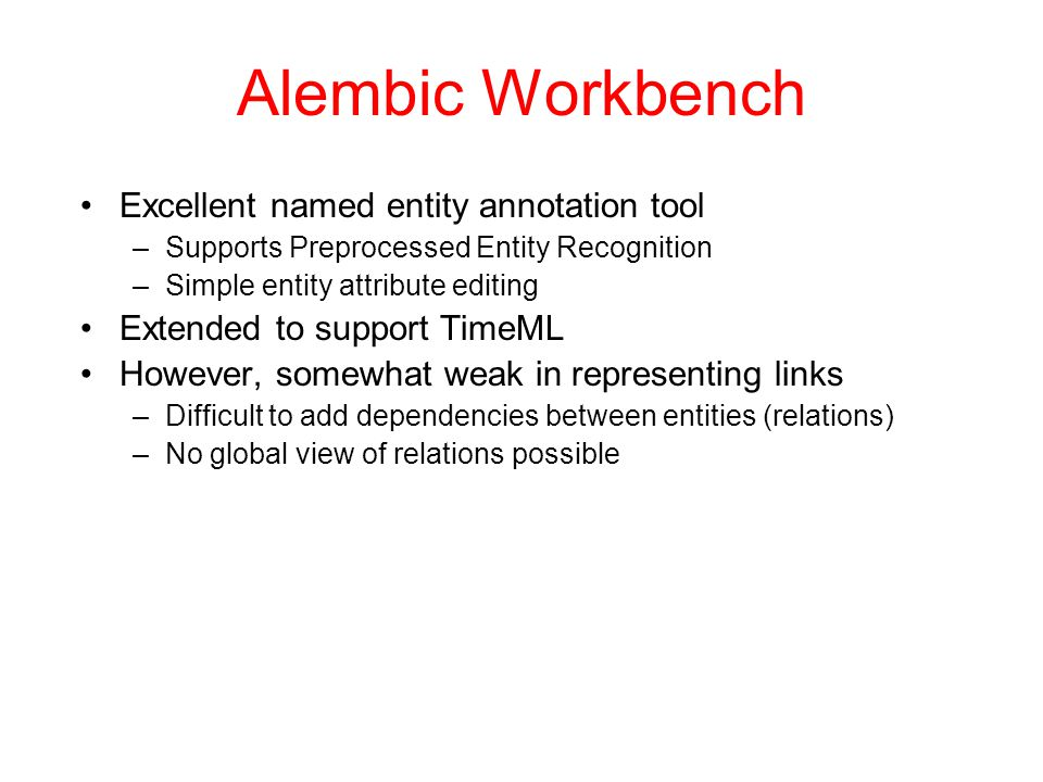 Alembic Workbench Excellent named entity annotation tool