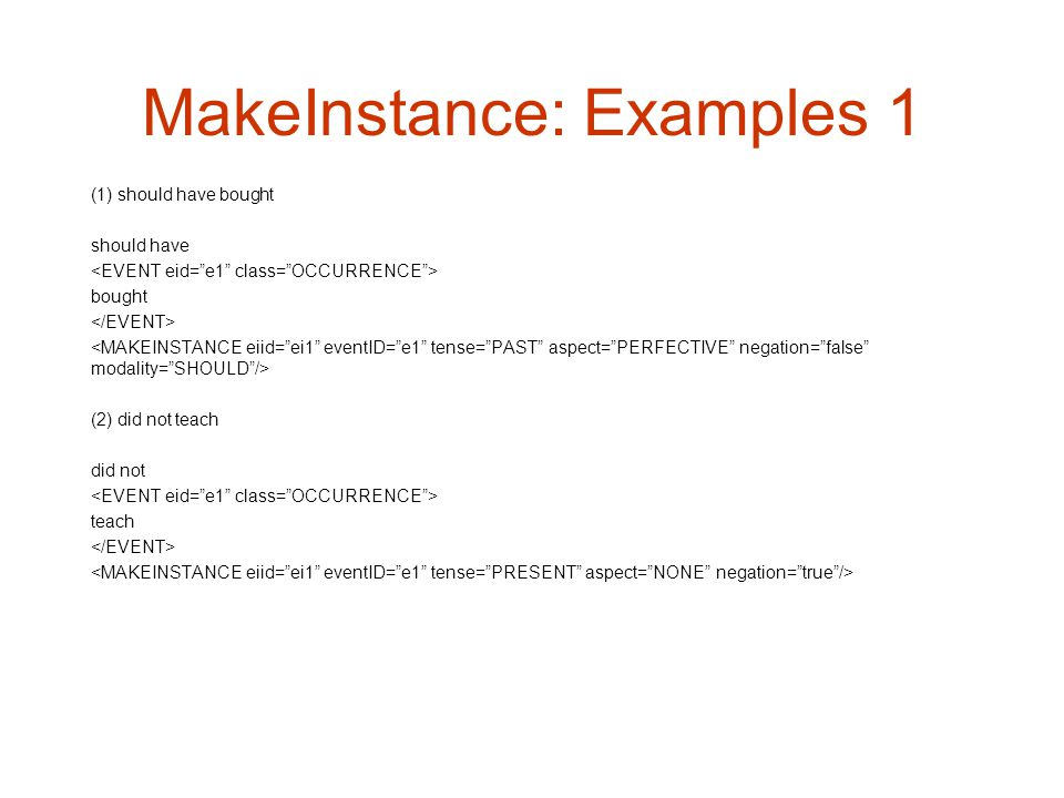 MakeInstance: Examples 1