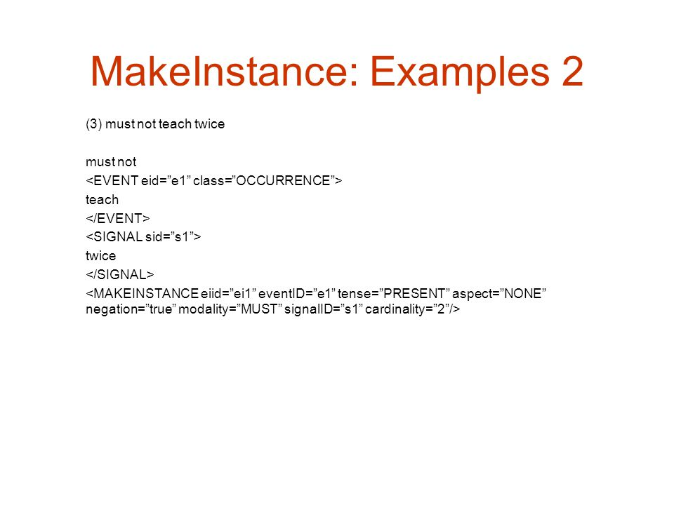 MakeInstance: Examples 2