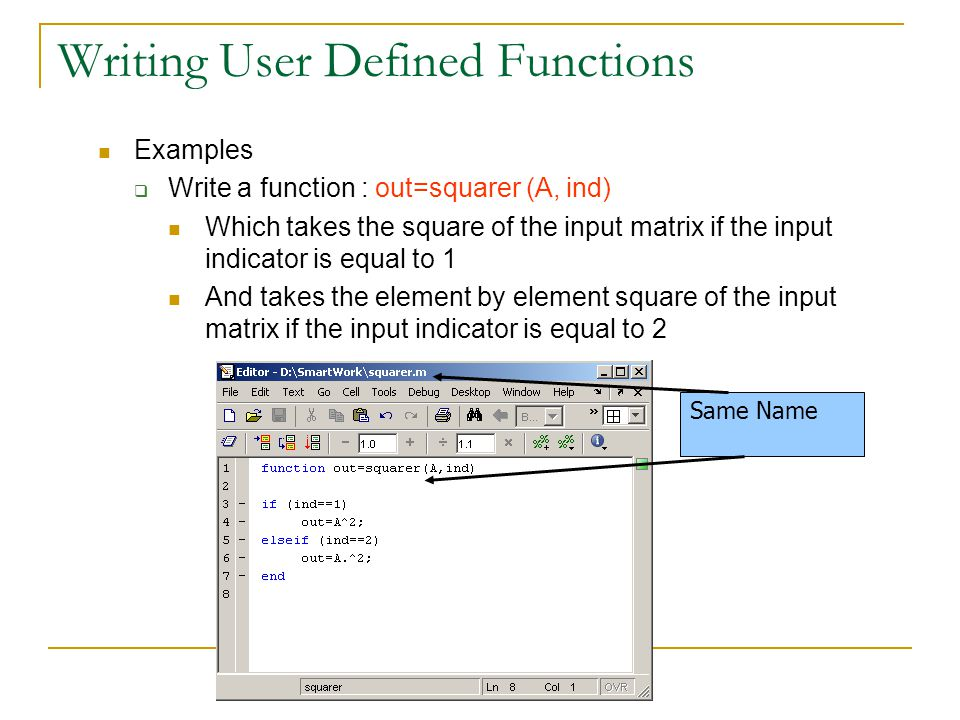 Writing User Defined Functions