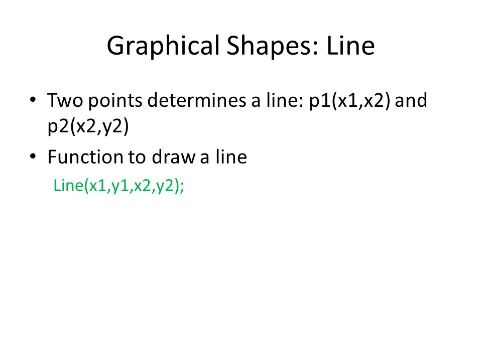 Graphical Shapes: Line