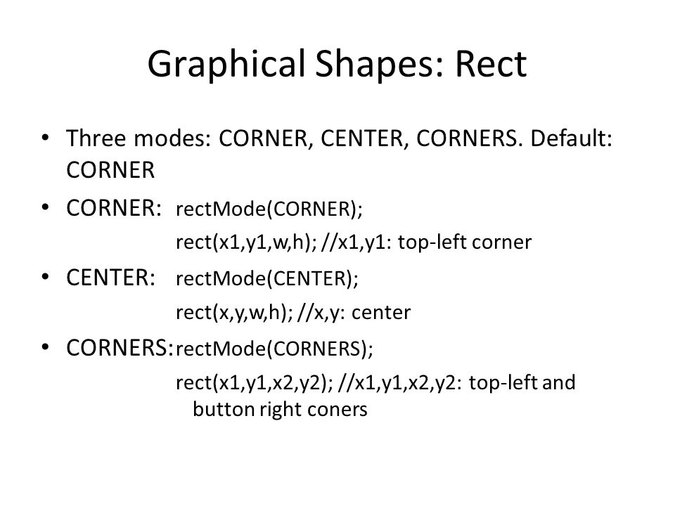 Graphical Shapes: Rect