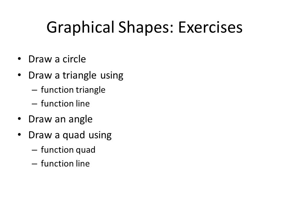 Graphical Shapes: Exercises