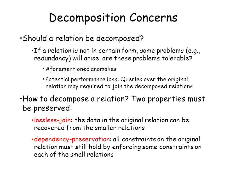 Decomposition Concerns