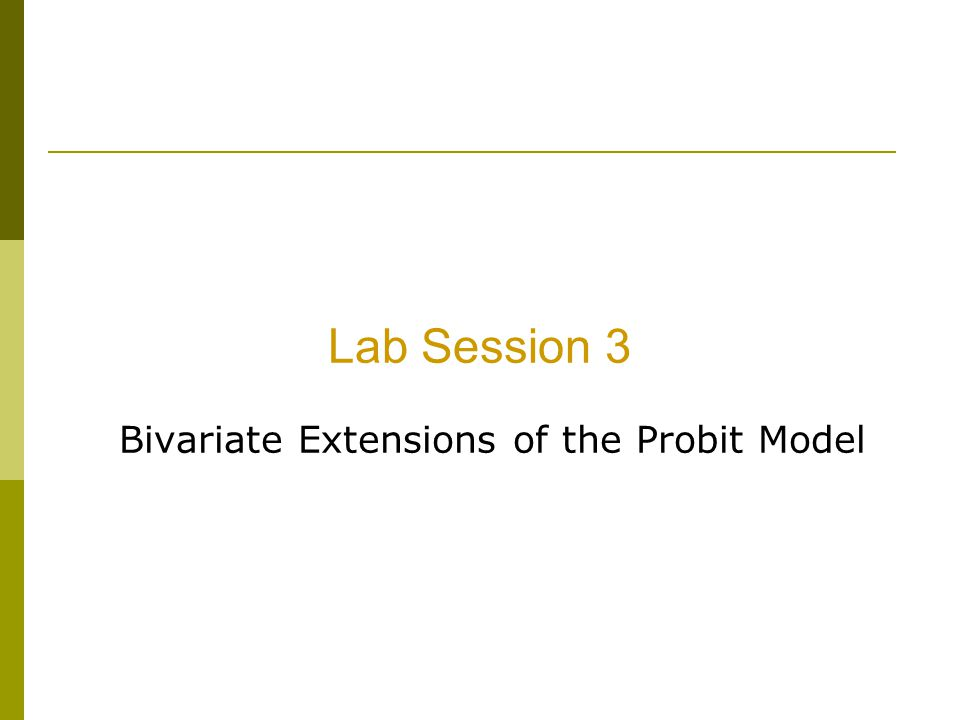 Bivariate Extensions of the Probit Model